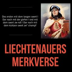 Johannes Liechtenauers Langschwert Merkverse gelesen von Dierk Hagedorn