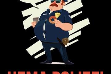 Ein Bild der HEMA Polizei wie sie vor Versportlichung Angst hat